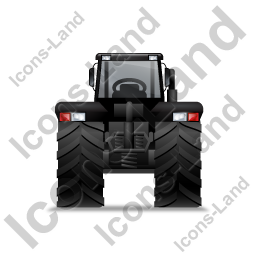 Farm Tractor Back Black Icon, PNG/ICO, 256x256