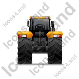 Farm Tractor Back Yellow Icon
