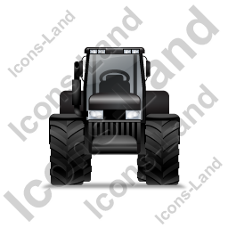 Farm Tractor Front Black Icon