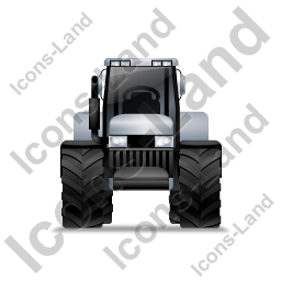 Farm Tractor Front Grey Icon