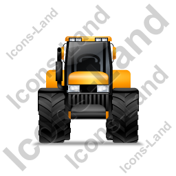Farm Tractor Front Yellow Icon