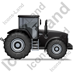 Farm Tractor Right Black Icon
