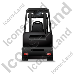 Forklift Truck Back Black Icon, PNG/ICO, 256x256