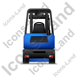 Forklift Truck Back Blue Icon