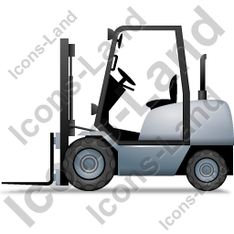 Forklift Truck Left Grey Icon