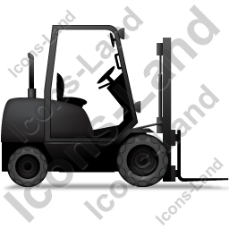 Forklift Truck Right Black Icon