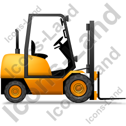 Forklift Truck Right Yellow Icon, PNG/ICO, 256x256