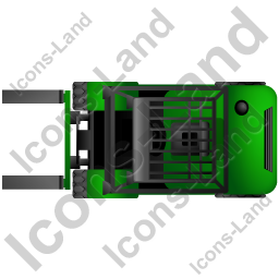 Forklift Truck Top Green Icon, PNG/ICO, 256x256