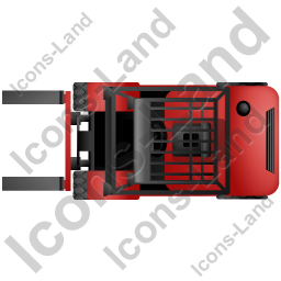 Forklift Truck Top Red Icon