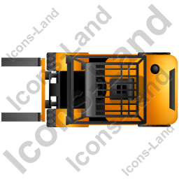 Forklift Truck Top Yellow Icon, PNG/ICO, 256x256