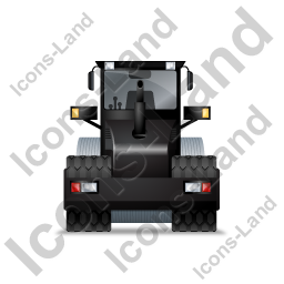Steam Roller Back Black Icon, PNG/ICO, 256x256