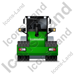 Steam Roller Back Green Icon