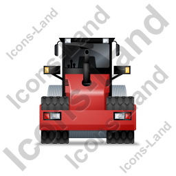 Steam Roller Back Red Icon, PNG/ICO, 256x256