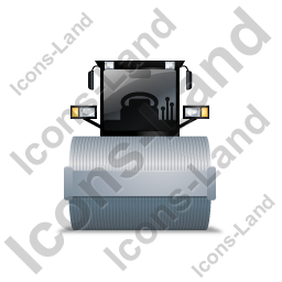 Steam Roller Front Grey Icon, PNG/ICO, 256x256