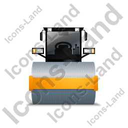 Steam Roller Front Yellow Icon, PNG/ICO, 256x256