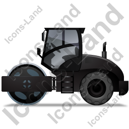 Steam Roller Left Black Icon, PNG/ICO, 256x256