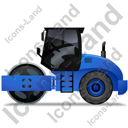Steam Roller Left Blue Icon