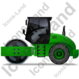 Steam Roller Left Green Icon