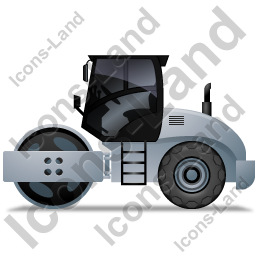 Steam Roller Left Grey Icon, PNG/ICO, 256x256