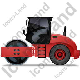 Steam Roller Left Red Icon