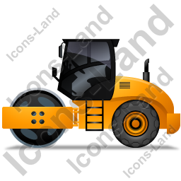 Steam Roller Left Yellow Icon, PNG/ICO, 256x256