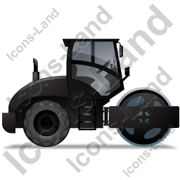 Steam Roller Right Black Icon
