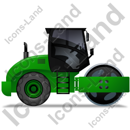 Steam Roller Right Green Icon, PNG/ICO, 256x256