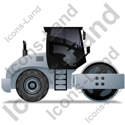 Steam Roller Right Grey Icon, PNG/ICO, 256x256