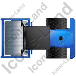 Steam Roller Top Blue Icon, PNG/ICO, 256x256