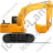 Excavator Right Yellow Icon