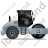 Steam Roller Right Grey Icon, PNG/ICO, 48x48