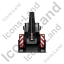 Backhoe Loader Back Black Icon, PNG/ICO, 64x64