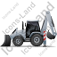 Backhoe Loader Left Grey Icon