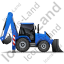 Backhoe Loader Right Blue Icon