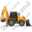 Backhoe Loader Right Yellow Icon