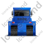 Bulldozer Back Blue Icon