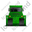 Bulldozer Back Green Icon