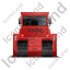 Bulldozer Back Red Icon