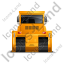 Bulldozer Back Yellow Icon
