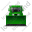 Bulldozer Front Green Icon