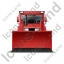 Bulldozer Front Red Icon