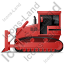 Bulldozer Left Red Icon