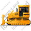 Bulldozer Left Yellow Icon
