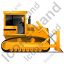 Bulldozer Right Yellow Icon
