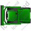 Bulldozer Top Green Icon