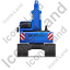 Excavator Back Blue Icon