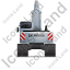 Excavator Back Grey Icon, PNG/ICO, 64x64
