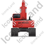 Excavator Back Red Icon, PNG/ICO, 64x64