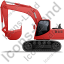Excavator Left Red Icon
