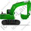 Excavator Right Green Icon, PNG/ICO, 64x64